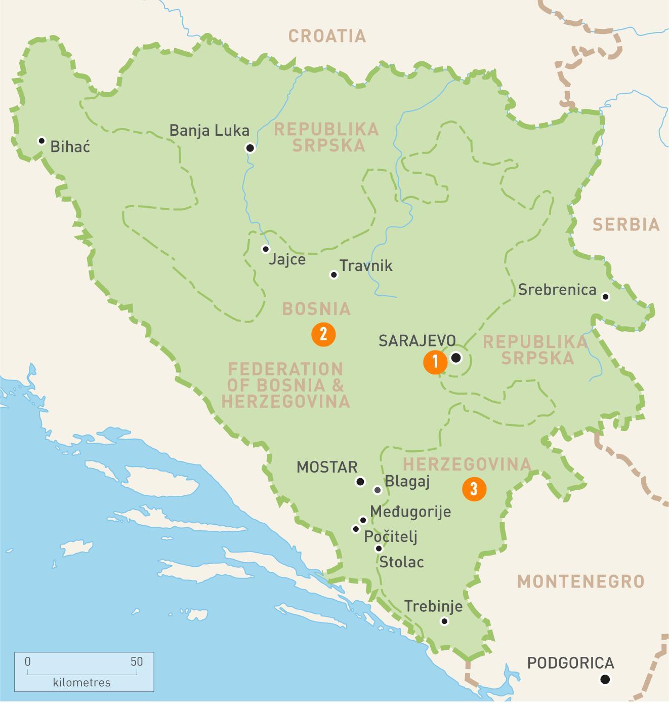 Image of: Sarajevo Bosnia Map Map Of Sarajevo Bosnia Southern Europe Europe