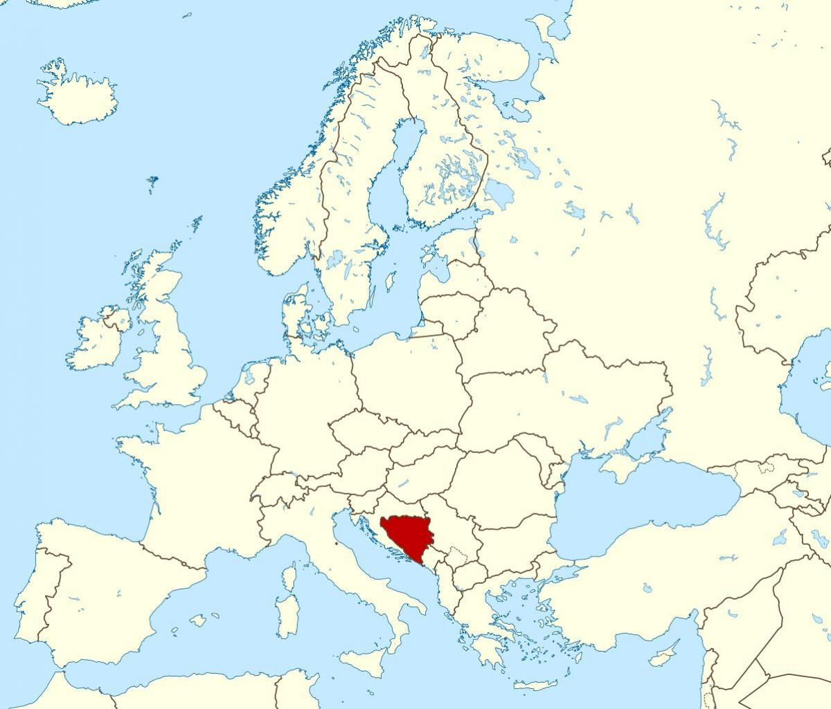 Map of Bosnia location on world
